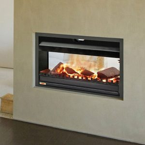 Double-Sided Wood Fires